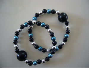 """""""Starry Night"""" Photo courtesy of Queasy Beads"""