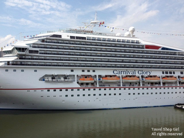 Carnival Glory in port in NYC