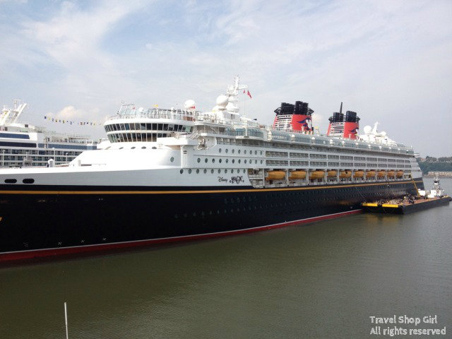 Disney Magic in port in NYC
