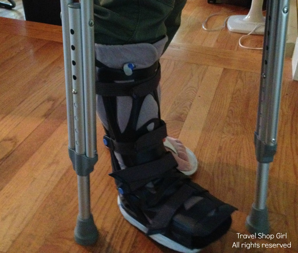 The dreaded boot AND crutches