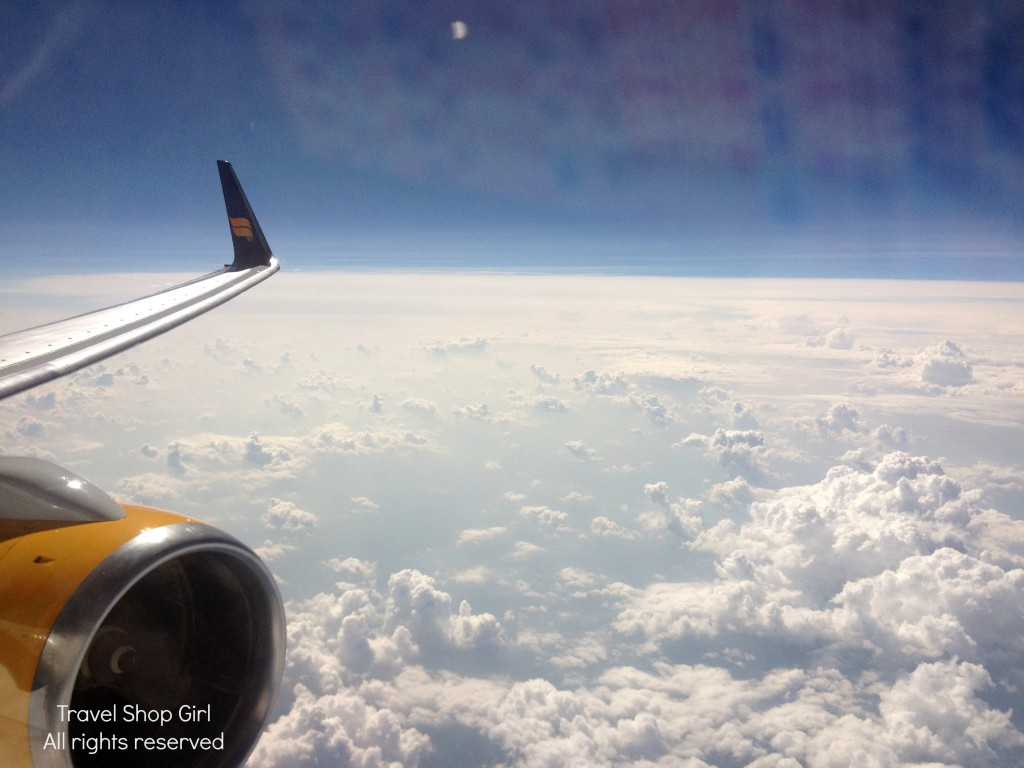 Flying above the clouds on IcelandAir