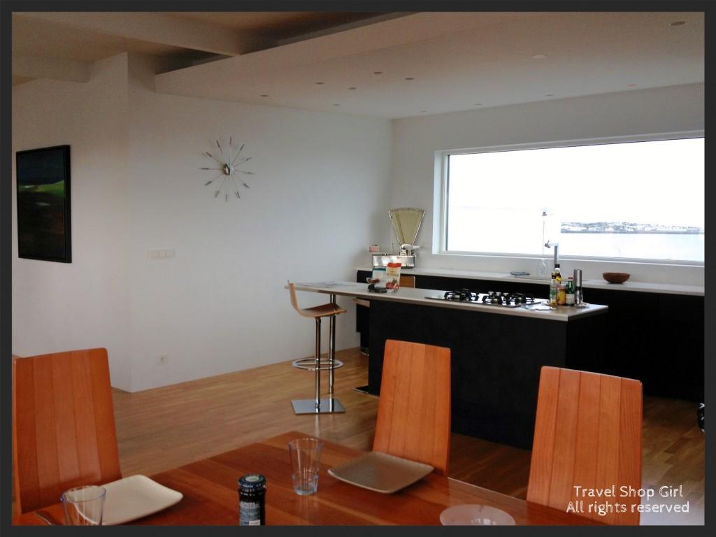 Dining area looking toward kitchen
