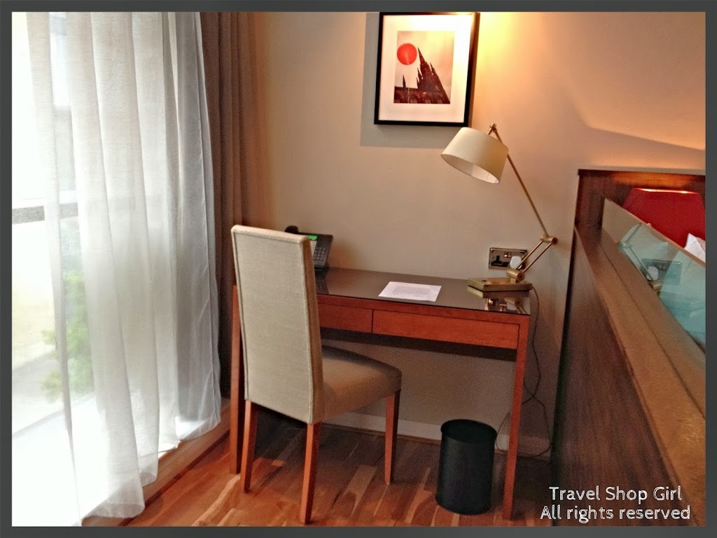 Desk area in the Deluxe Room