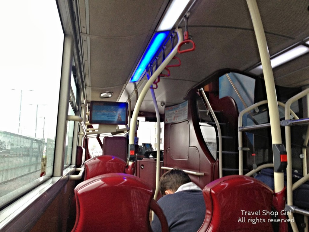 Inside the Airlink bus