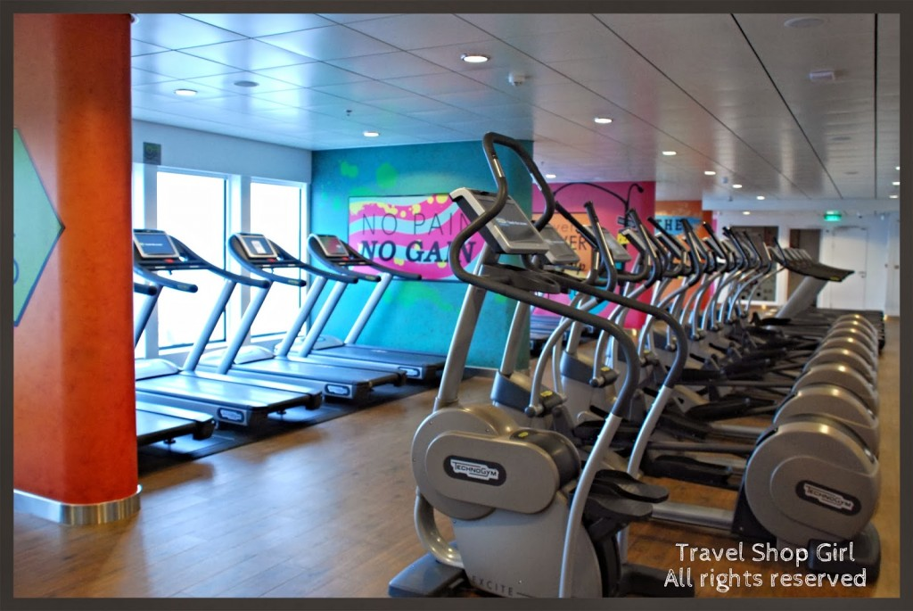 Cardio room in the Fitness Center