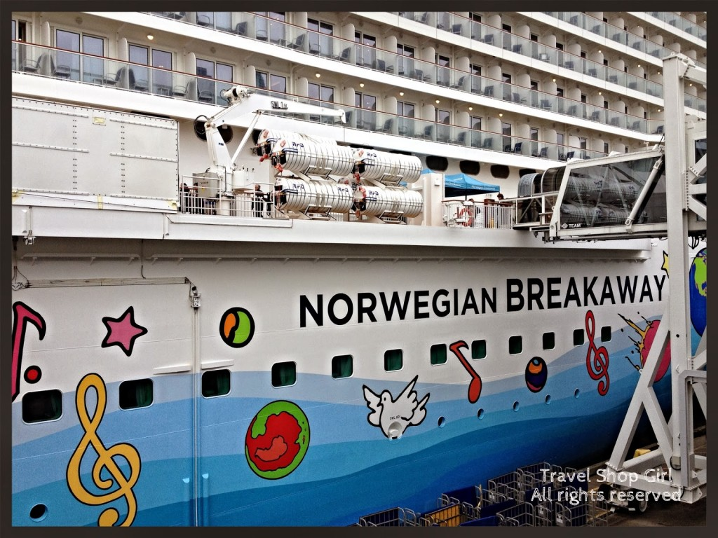 Getting ready to board the Norwegian Breakaway
