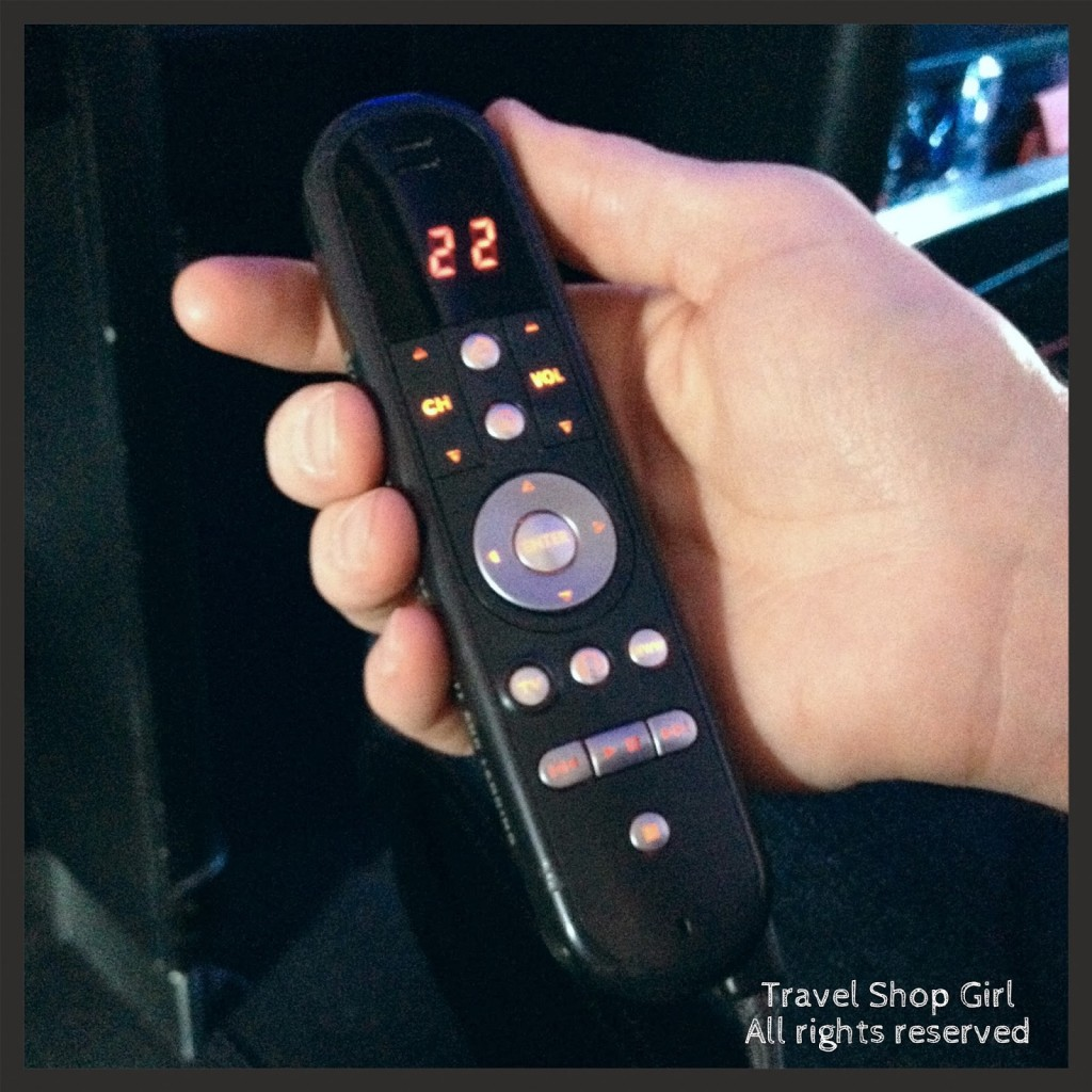 The remote for the entertainment system