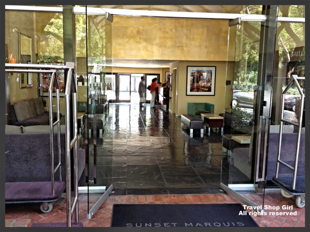 Entrance to the Sunset Marquis