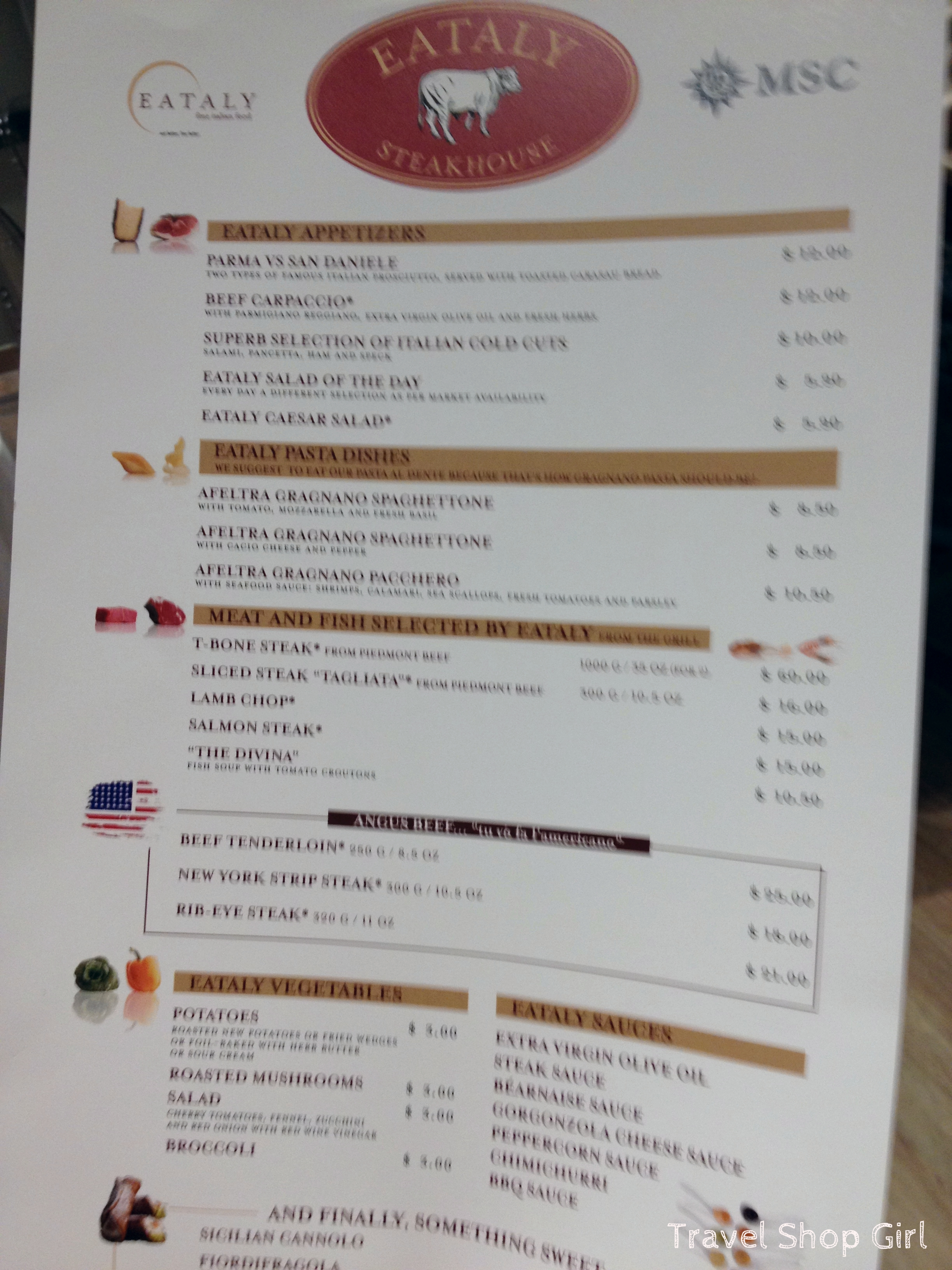 Italian Food Menu List