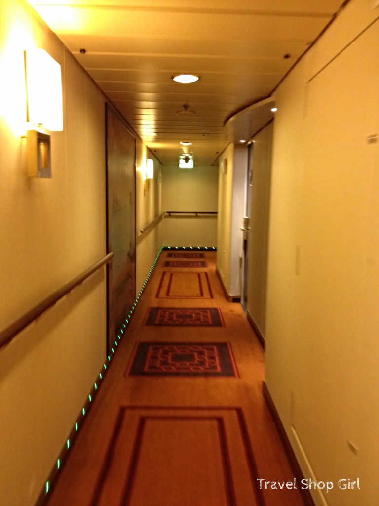 Deck 12 hallway on MSC Divina