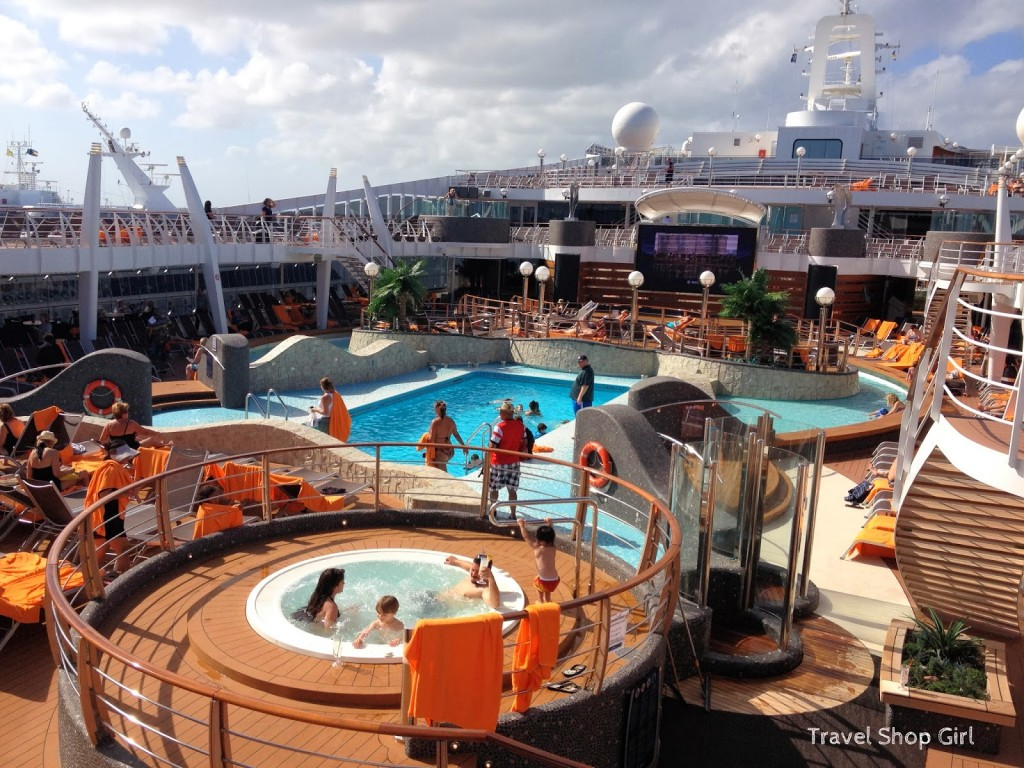 Aqua Park pool area on deck 14