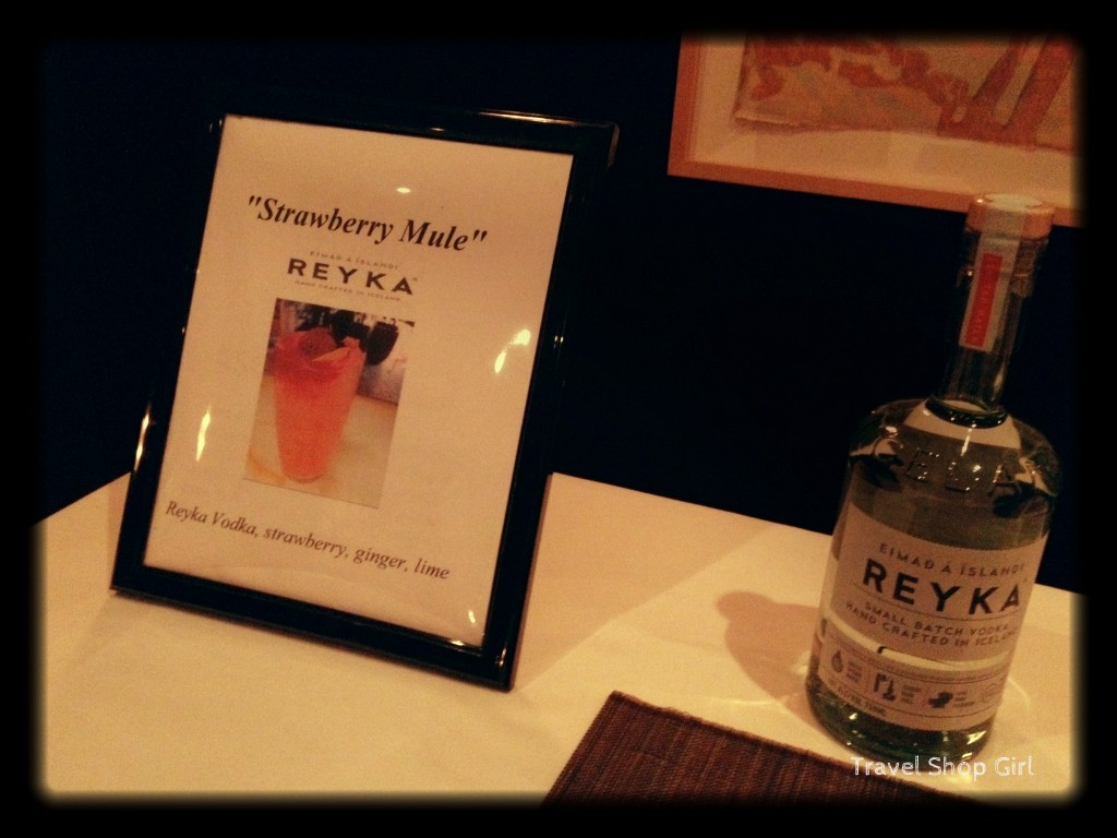 Strawberry Mule and Reyka Vodka