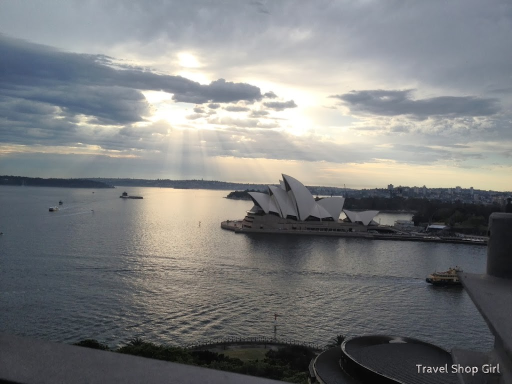 Sydney Opera House as seen from Sydney Harbour Bridge