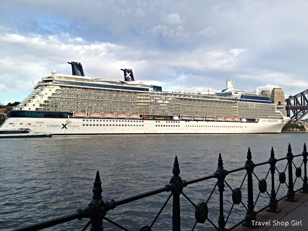 Celebrity Solstice docked in Sydney