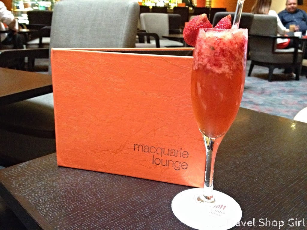 Macquarie Lounge and a Strawberry Lush