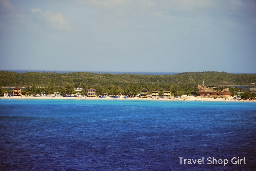 View of Little San Salvador (Half Moon Cay) from the tender