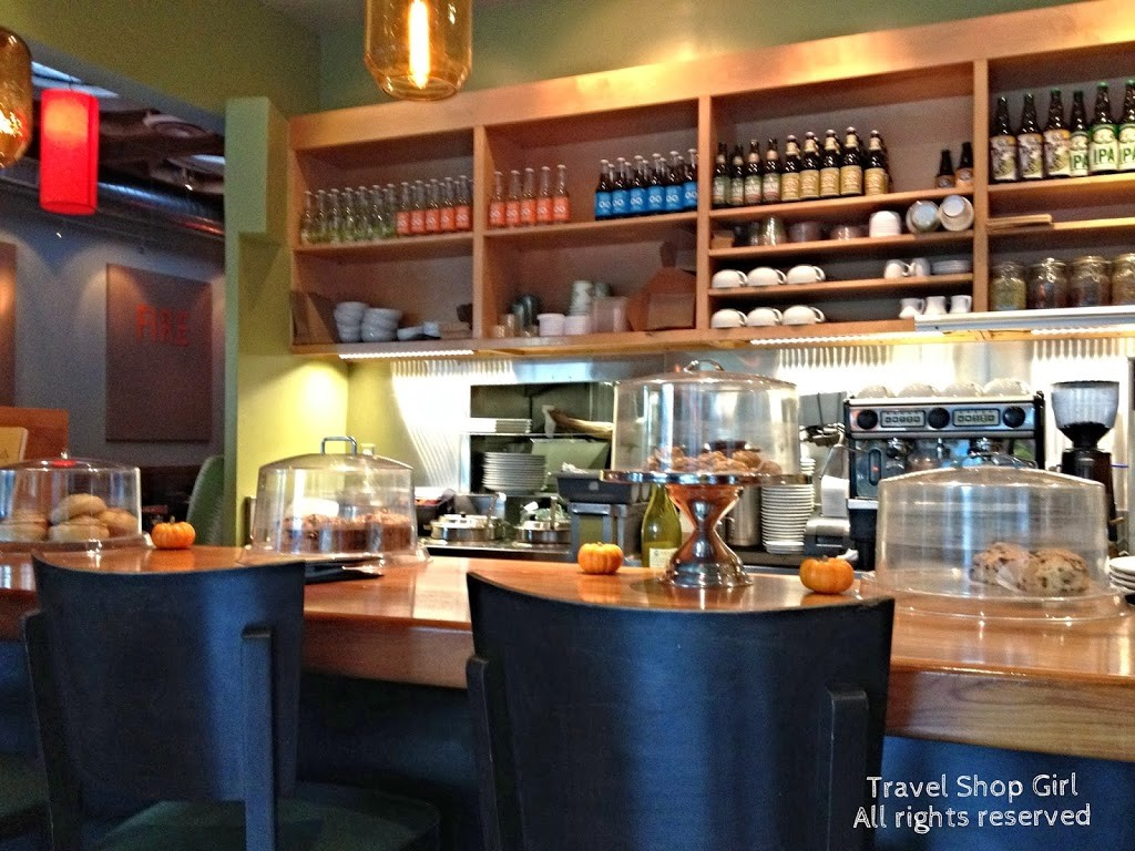 Real Food Daily coffee bar and counter area
