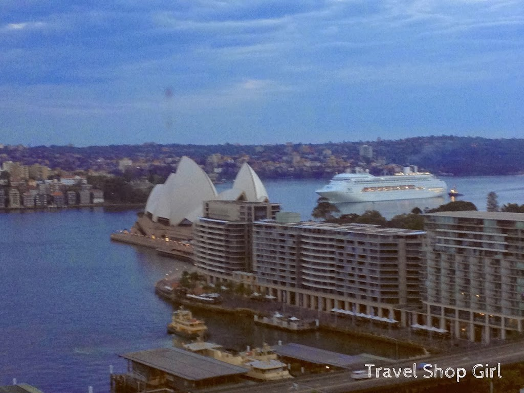 View from room 2104 at the Sydney Harbour Marriott