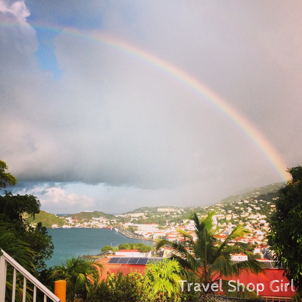 A rainbow over St. Thomas, USVI