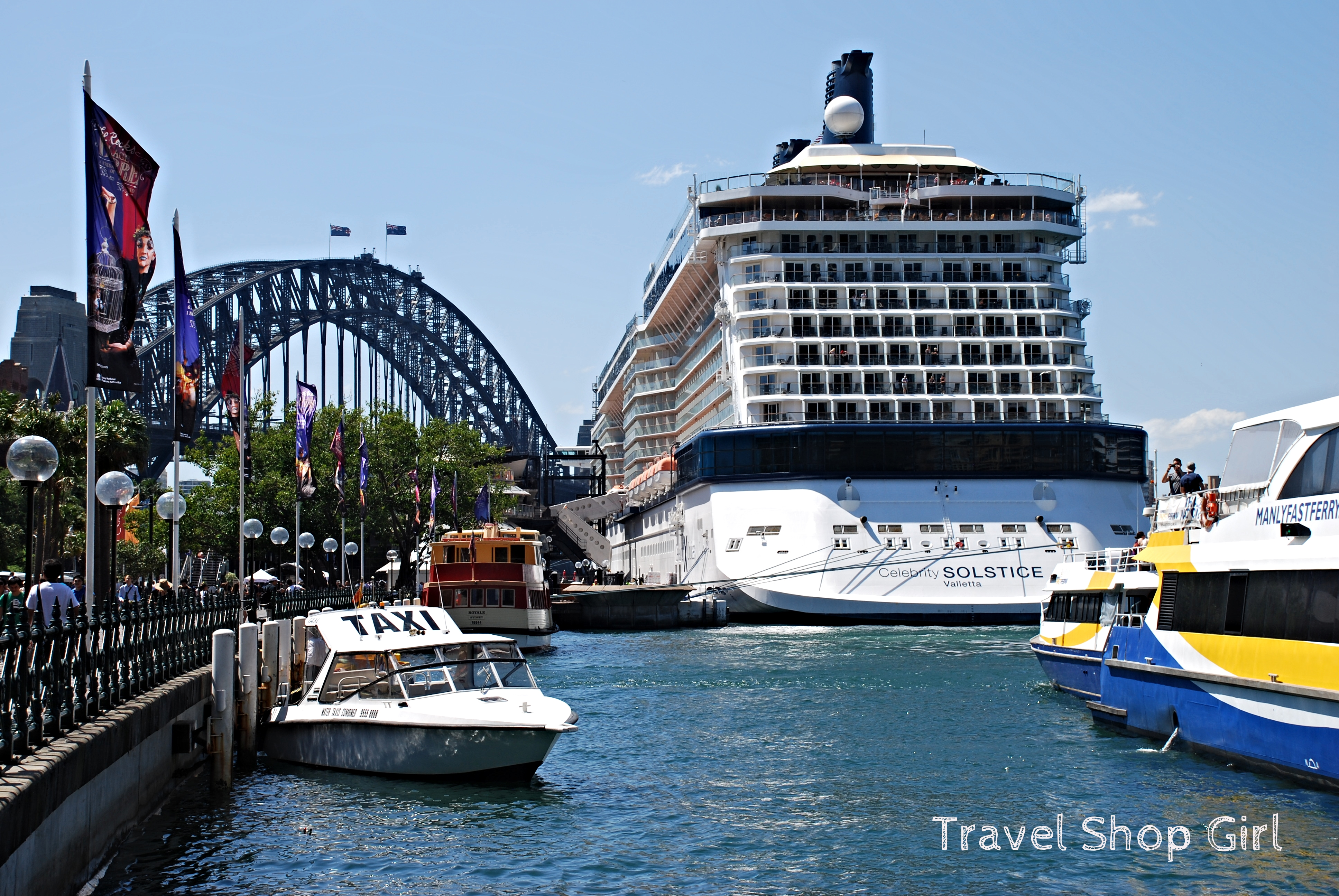 Overseas Passenger Terminal OPT Sailing Out Of Sydney On - Sydney airport to cruise ship terminal