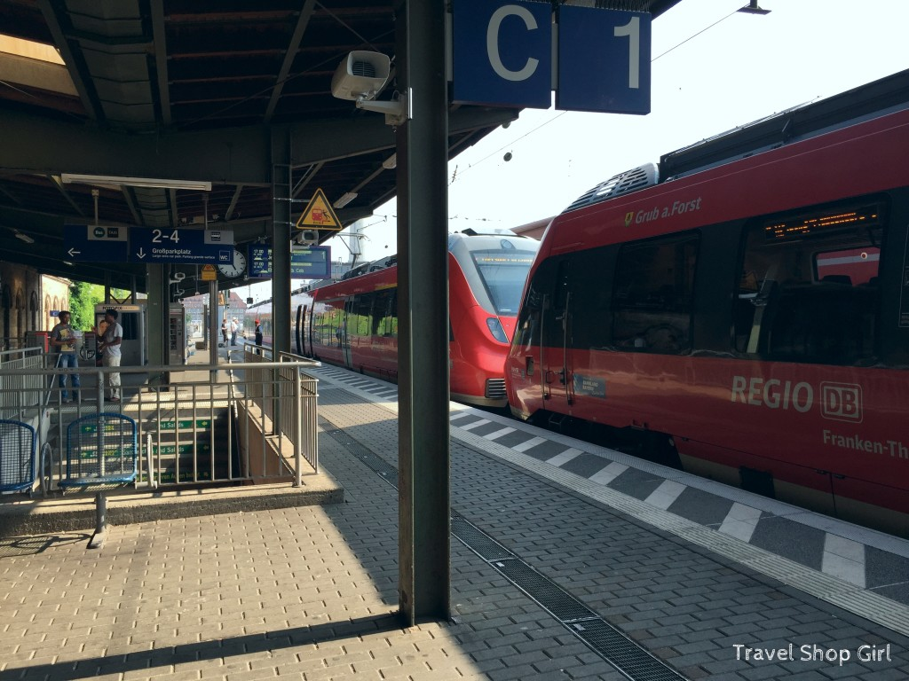 train to Erlangen