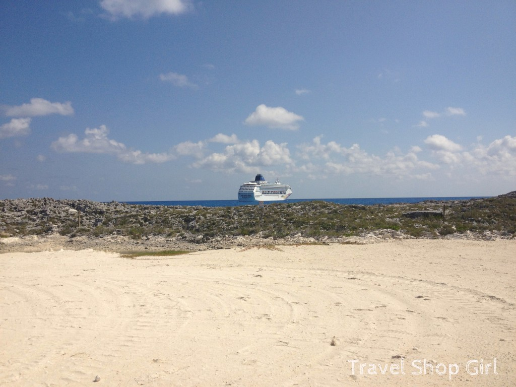 View of Norwegian Sky from Great Stirrup Cay