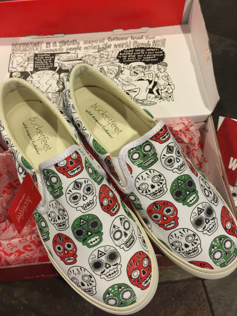 BucketFeet Shoes and Art