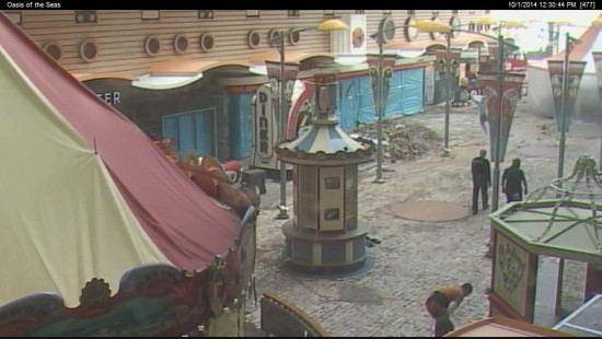 Image from the Oasis of the Seas webcam 10/1/2014