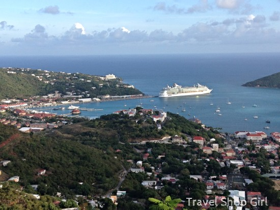 Royal Caribbean's Freedom of the Seas docked at Havensight, St. Thomas, USVI