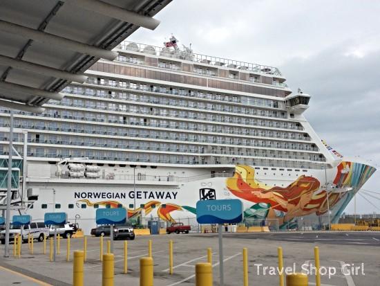 Norwegian Getaway docked in the Port of Miami