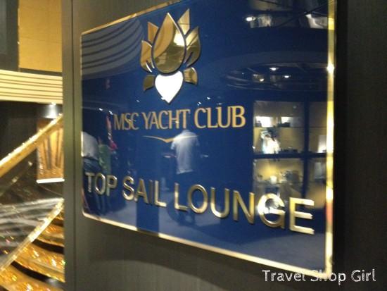 MSC Yacht Club's Top Sail Lounge on MSC Preziosa