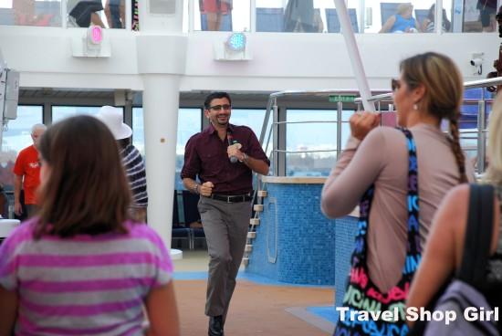 Sinan Ullucay, Norwegian Getaway's cruise director