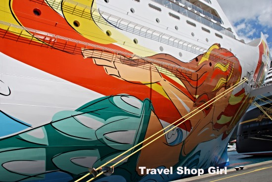 Norwegian Getaway docked in Havensight, St. Thomas, USVI