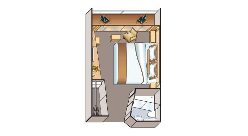 Veranda Stateroom (A) layout (image from Viking River Cruises web site)