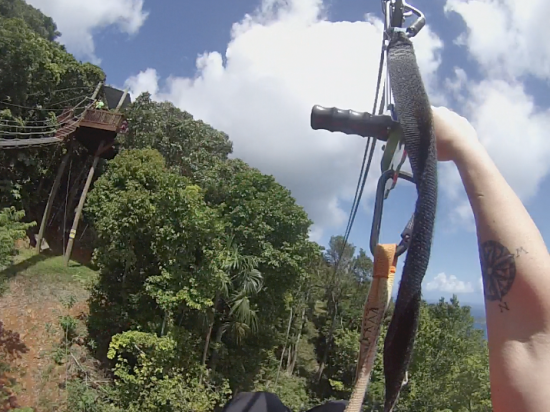 On the Zipline with Tree Limin' Extreme in St. Thomas, USVI
