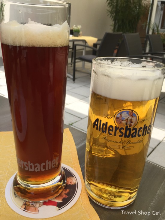 Pretzels and Beer in Passau, Germany
